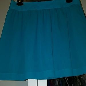 Loft Teal Chiffon Skirt